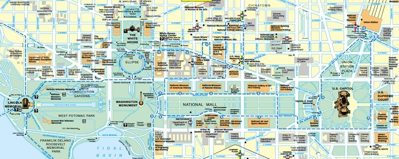 Washington Dc Tourist Attractions Map - Tourism Company and ...